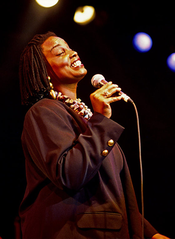 Dianne Reeves on stage