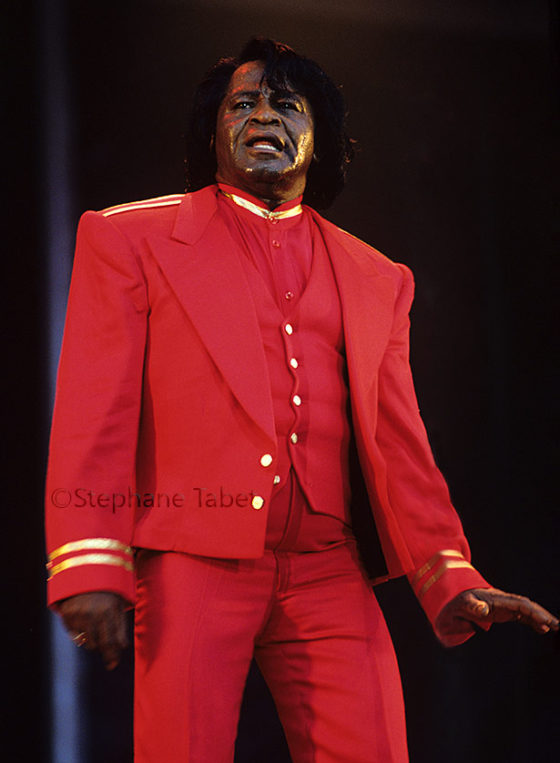 James Brown on stage