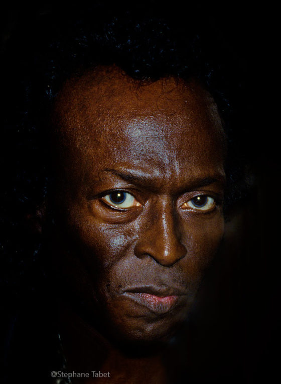 Miles Davis look into the eyes