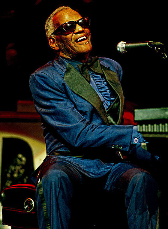 Ray Charles playing on stage